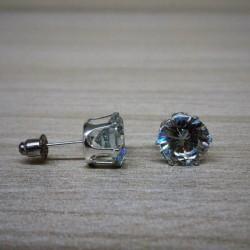 Brinco de cristal solitário 10mm