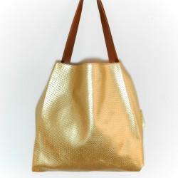 Bolsa 2 em 1 dourada