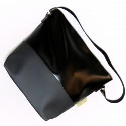 Bolsa de alça única preta e cinza
